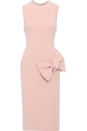 ROKSANDA Bow-embellished cady dress