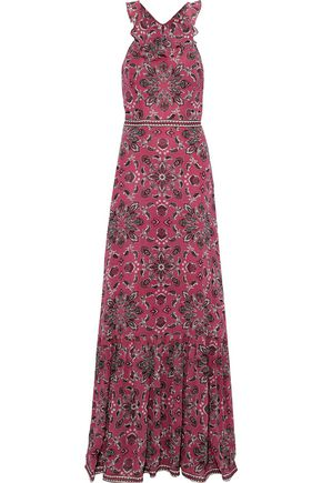 TALITHA Lily printed silk crepe de chine maxi dress
