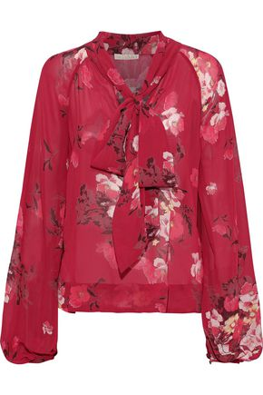 byTIMO Pussy-bow floral-print georgette blouse