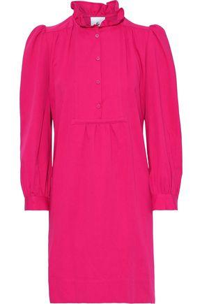 G. LABEL Alyssa cotton and linen-blend twill mini dress