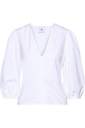 G. LABEL Kat cotton-poplin blouse