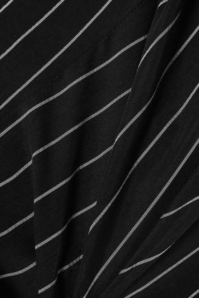 ALEXANDERWANG.T Striped twill jumpsuit