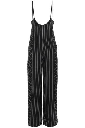 ALEXANDERWANG.T Striped twill jumpsuit