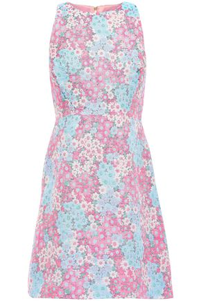 KATE SPADE New York Cotton-blend jacquard mini dress