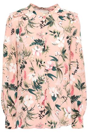 KATE SPADE New York Floral-print crepe de chine shirt