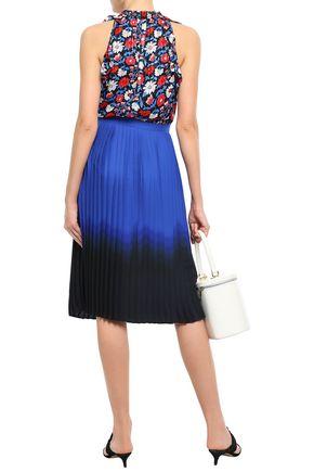 KATE SPADE New York Ruffled floral-print silk-voile top
