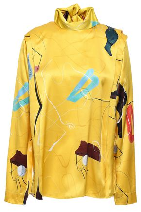 ROKSANDA Printed silk-satin blouse
