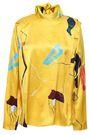 ROKSANDA Printed silk-satin blouse