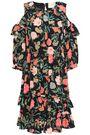 KATE SPADE New York Cold-shoulder floral-print crepe mini dress