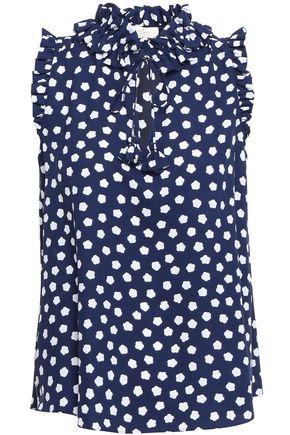 KATE SPADE New York Striped cotton-poplin midi shirt dress