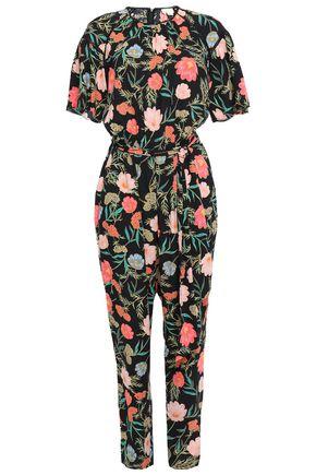 KATE SPADE New York Belted floral-print crepe jumpsuit