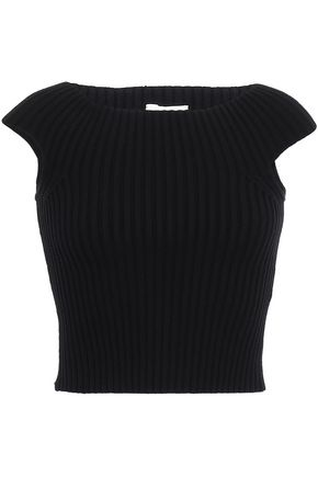 KATE SPADE New York Cropped ribbed-knit top