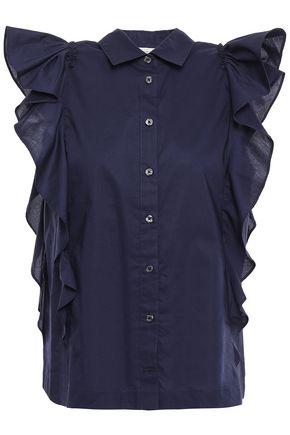 KATE SPADE New York Ruffled cotton-poplin shirt