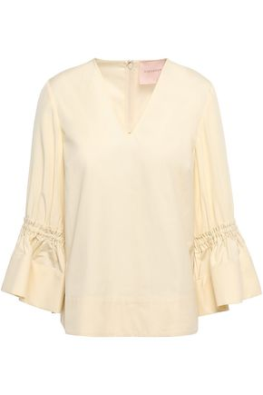 ROKSANDA Cotton and silk-blend top