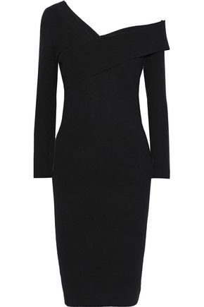 MICHELLE MASON Off-the-shoulder wool and cashmere-blend dress