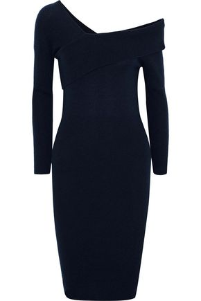 MICHELLE MASON One-shoulder wool and cashmere-blend dress