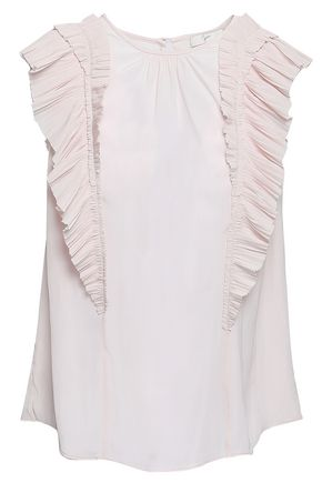 JOIE Ruffled voile top