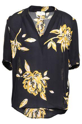 JOIE Floral-print silk-crepe blouse