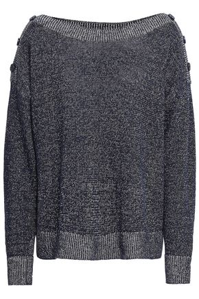 JOIE Marled linen and cotton-blend sweater