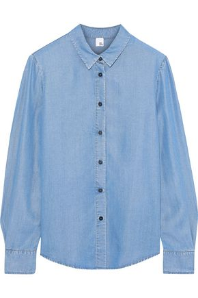 IRIS & INK Tencel-chambray shirt