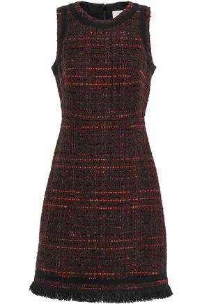 KATE SPADE New York Frayed cotton-blend tweed dress