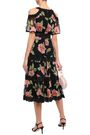 KATE SPADE New York Cold-shoulder floral-print silk-georgette midi dress