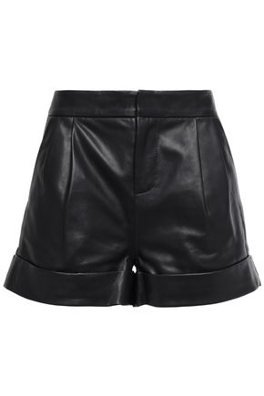 STAND STUDIO Carrie leather shorts