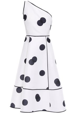 KATE SPADE New York One-shoulder polka-dot woven midi dress