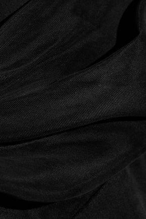 IRIS & INK Aurora wrap-effect washed-twill jumpsuit