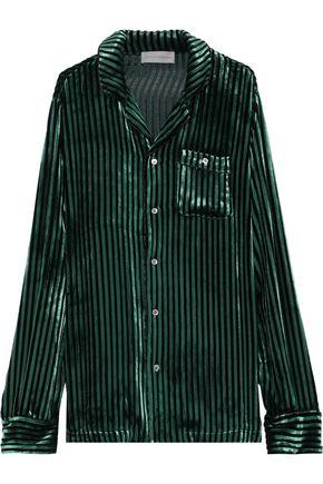 FAITH CONNEXION Striped velvet shirt