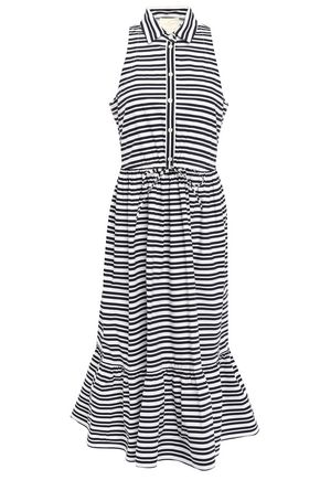 KATE SPADE New York Striped cotton-blend poplin midi dress
