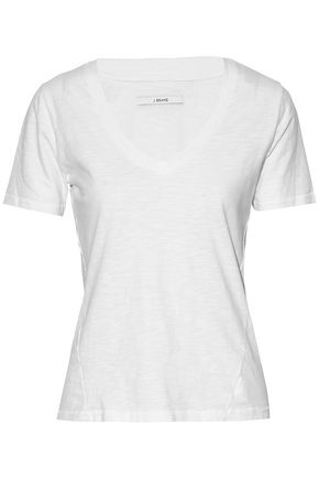 J BRAND Skinny Boy slub cotton-jersey T-shirt