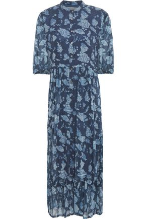 RAQUEL ALLEGRA Printed silk-georgette midi dress