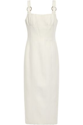 RACHEL GILBERT Ring-embellished cady midi dress