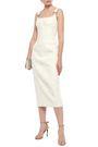 RACHEL GILBERT Ring-embellished cady midi dress