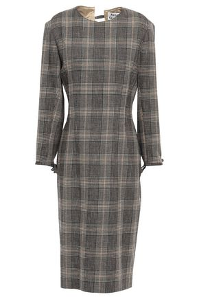 ACNE STUDIOS Prince of Wales checked wool and cotton-blend dress