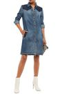 7 FOR ALL MANKIND Two-tone denim mini dress