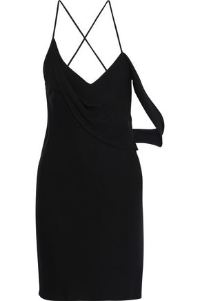 MICHELLE MASON Draped stretch-jersey mini slip dress