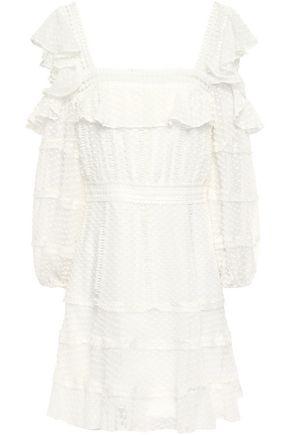 RACHEL GILBERT Cutout fil coupé silk and cotton-blend mini dress