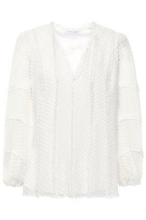 RACHEL GILBERT Fil coupé silk and cotton-blend blouse