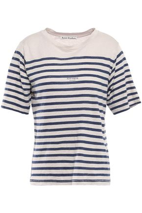 ACNE STUDIOS Striped slub linen-jersey T-shirt