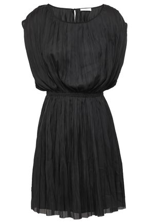 ANINE BING Pleated voile mini dress