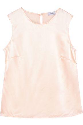 ISOLDA Shell silk-satin top