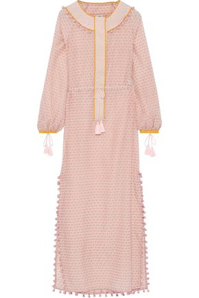 TALITHA Embellished printed cotton and silk-blend kaftan