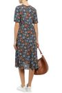 ACNE STUDIOS Pintucked floral-print crepe midi dress