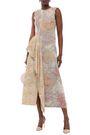 ACNE STUDIOS Draped paneled jute-blend midi dress