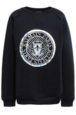 BALMAIN Printed scuba sweatshirt