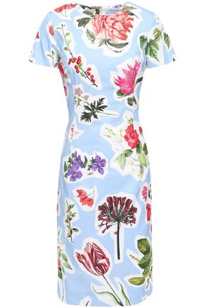 CAROLINA HERRERA Floral-print cotton-blend dress
