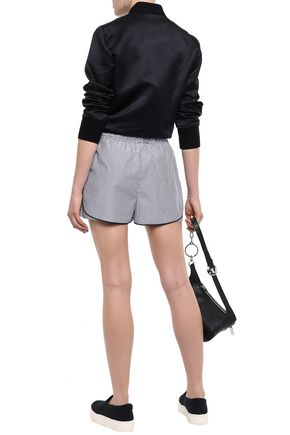 3.1 PHILLIP LIM Striped coated cotton-canvas shorts