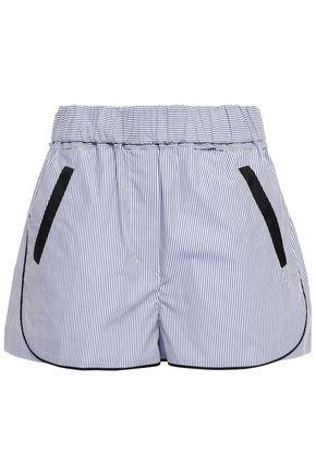 3.1 PHILLIP LIM Striped coated cotton-canvas shorts